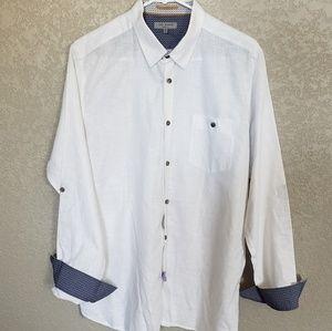 Ted Baker London linen long sleeve shirt